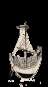 """ספינות תרשיש מהמאה ה-10 לפה""""ס - דגם מהמוזאון הימי בחיפה"""